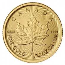1/20 Troy ounce gouden Maple Leaf munt