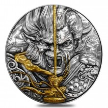 2 troy ounce zilveren munt Monkey King 2020