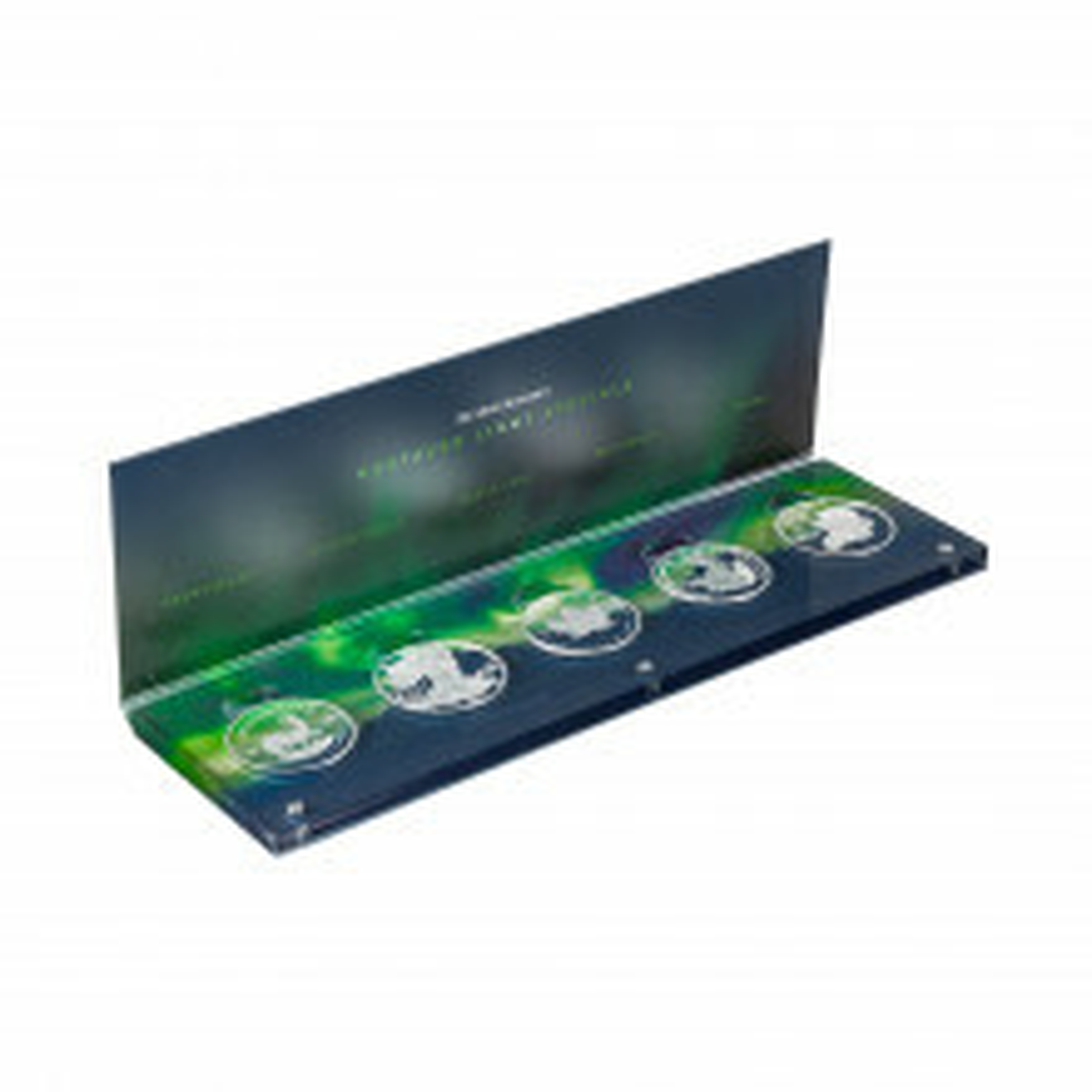 5 x 1 troy ounce zilveren munten Noorderlicht serie
