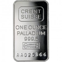 1 Troy ounce palladium baar Credit Suisse BTW vrij