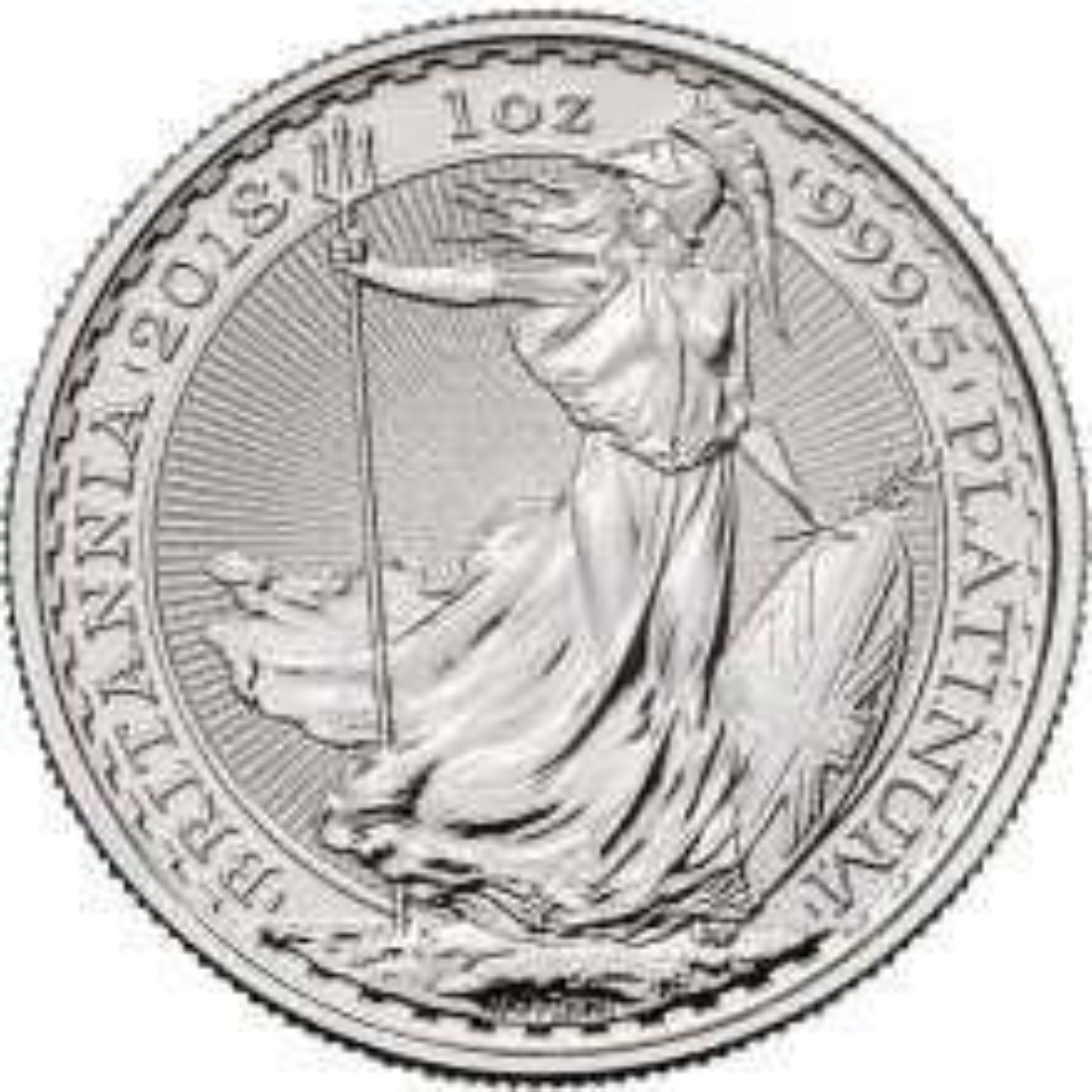 1 Troy ounce platina munt Britannia