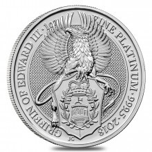 1 Troy ounce platina munt Queens Beasts Griffin