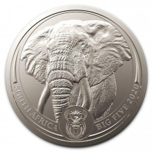 1 Troy ounce platina munt Big Five Elephant 2020