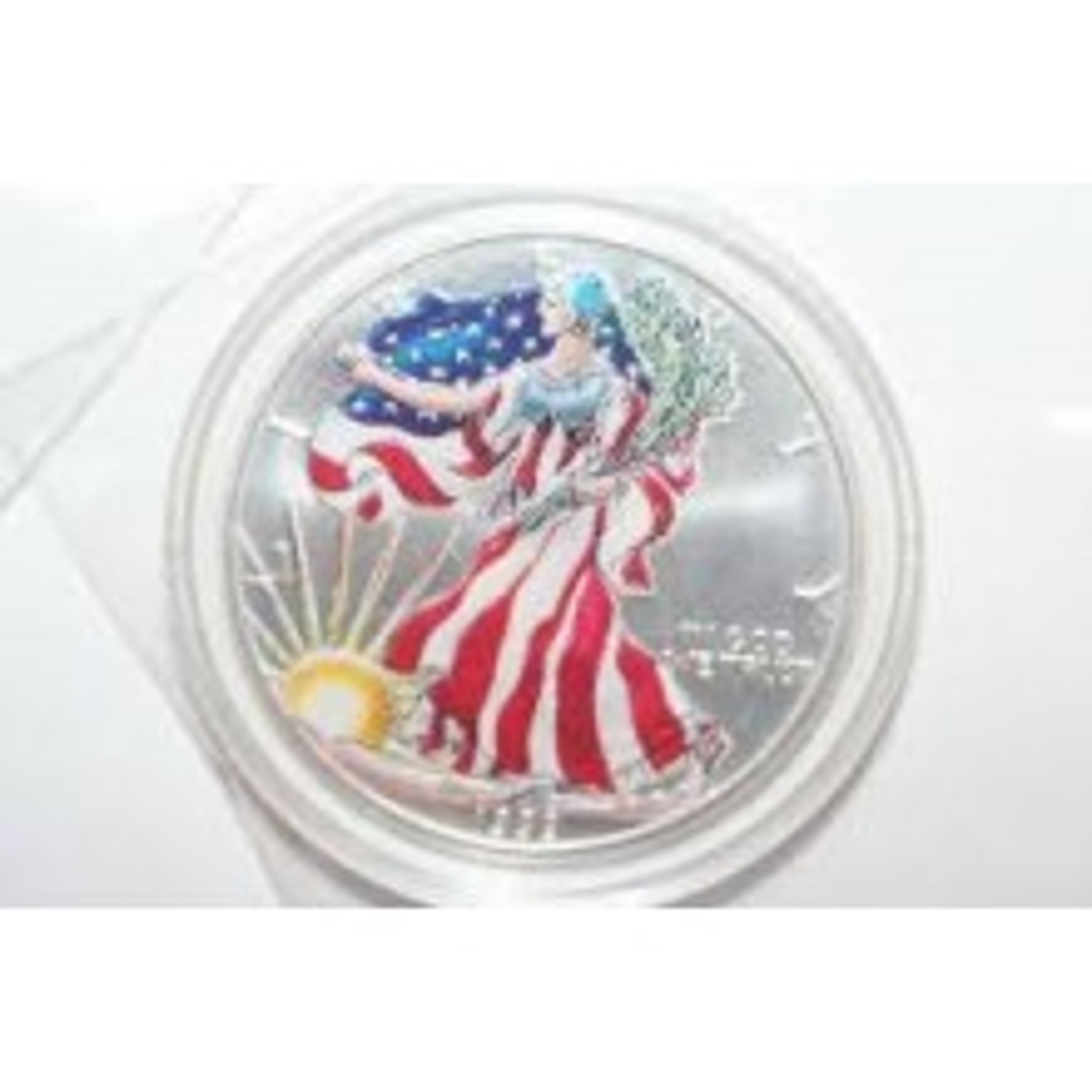 Silver Eagle munt gekleurd