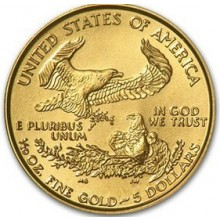 Gouden 1/10 troy ounce American Eagle munt