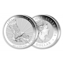 1 Troy ounce zilveren munt Wedge Tailed Eagle 2019