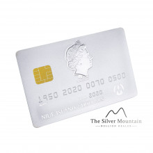 1,5 troy ounce zilveren credit card munt 2020