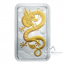 1 Troy ounce The Silver Mountain Muntbaar Dragon