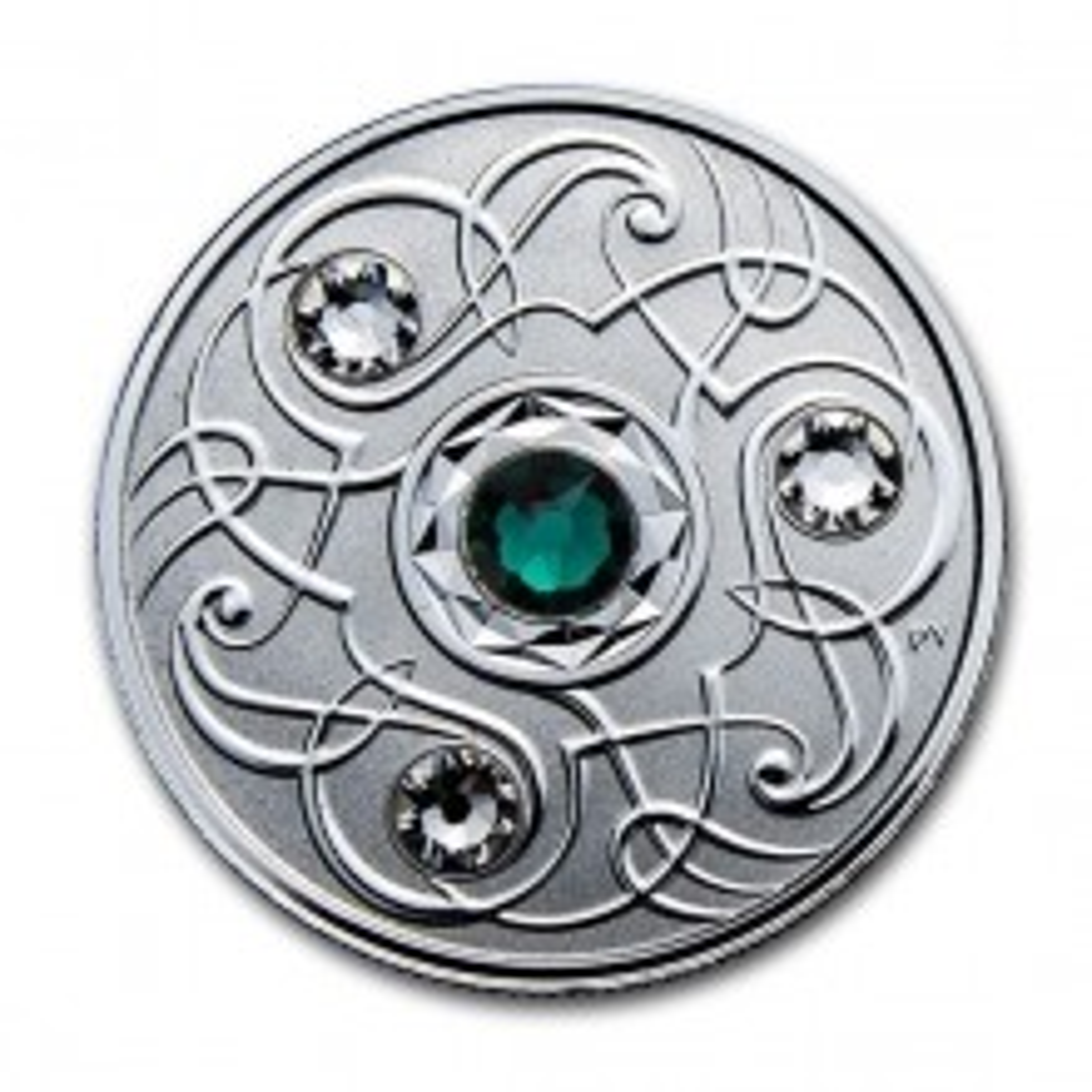 Zilveren munt Mei Birthstone Swarovski 2020
