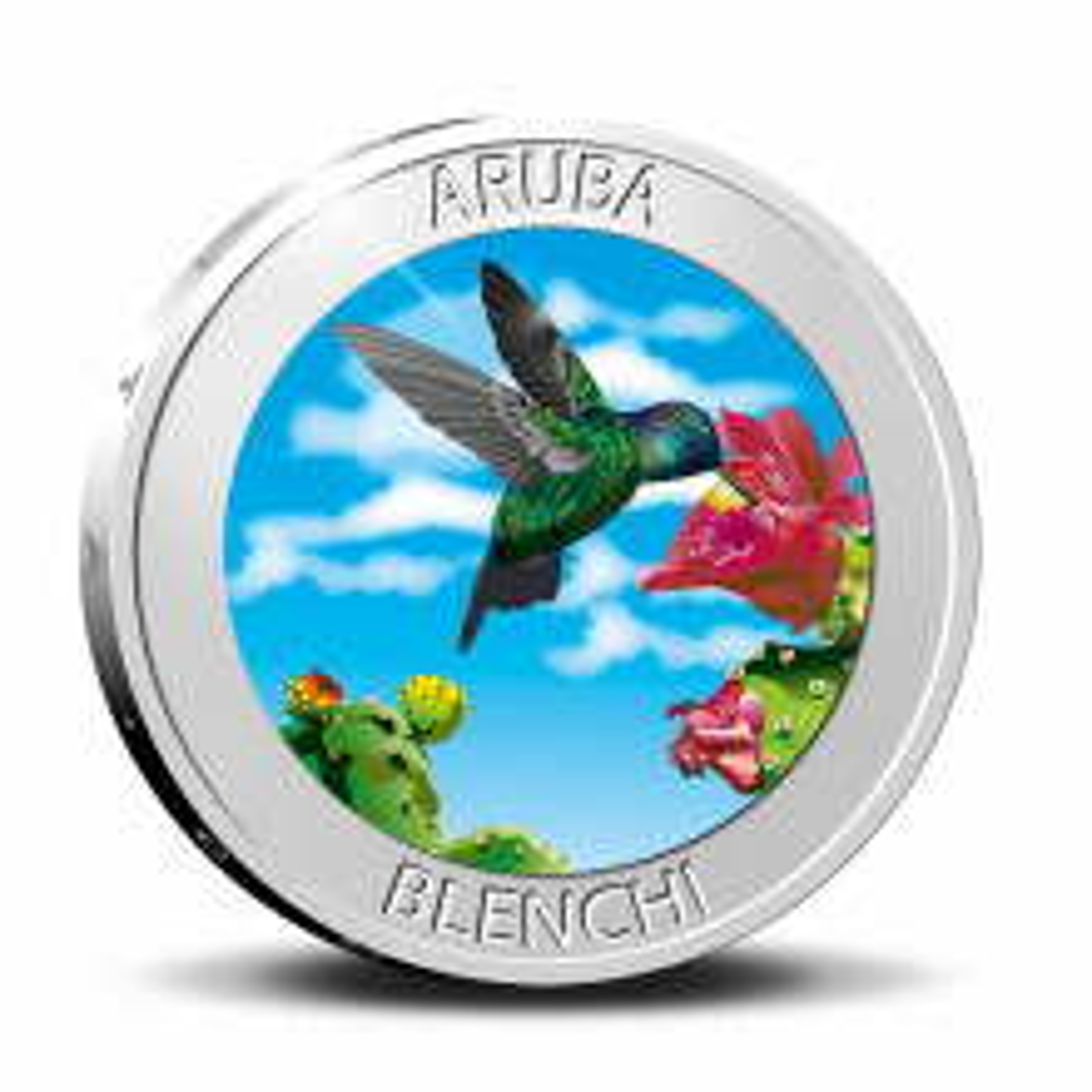 Zilveren munt 5 Florin Blenchi 2020 Proof