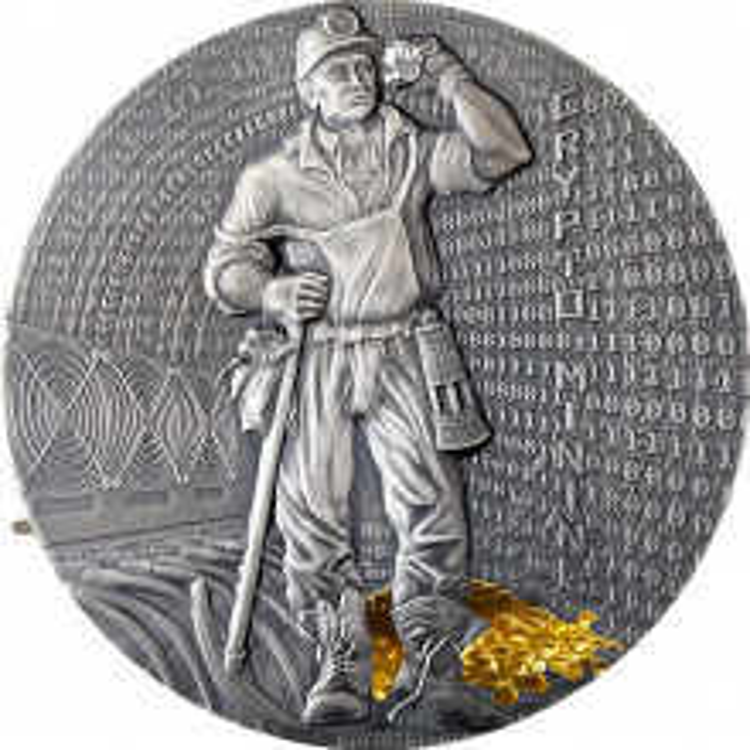 Zilveren munt Crypto mining 2021