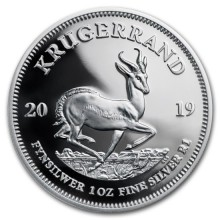 1 Troy ounce zilveren munt Krugerrand 2019 Proof