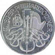 1 troy ounce zilver Philharmoniker circulated conditie