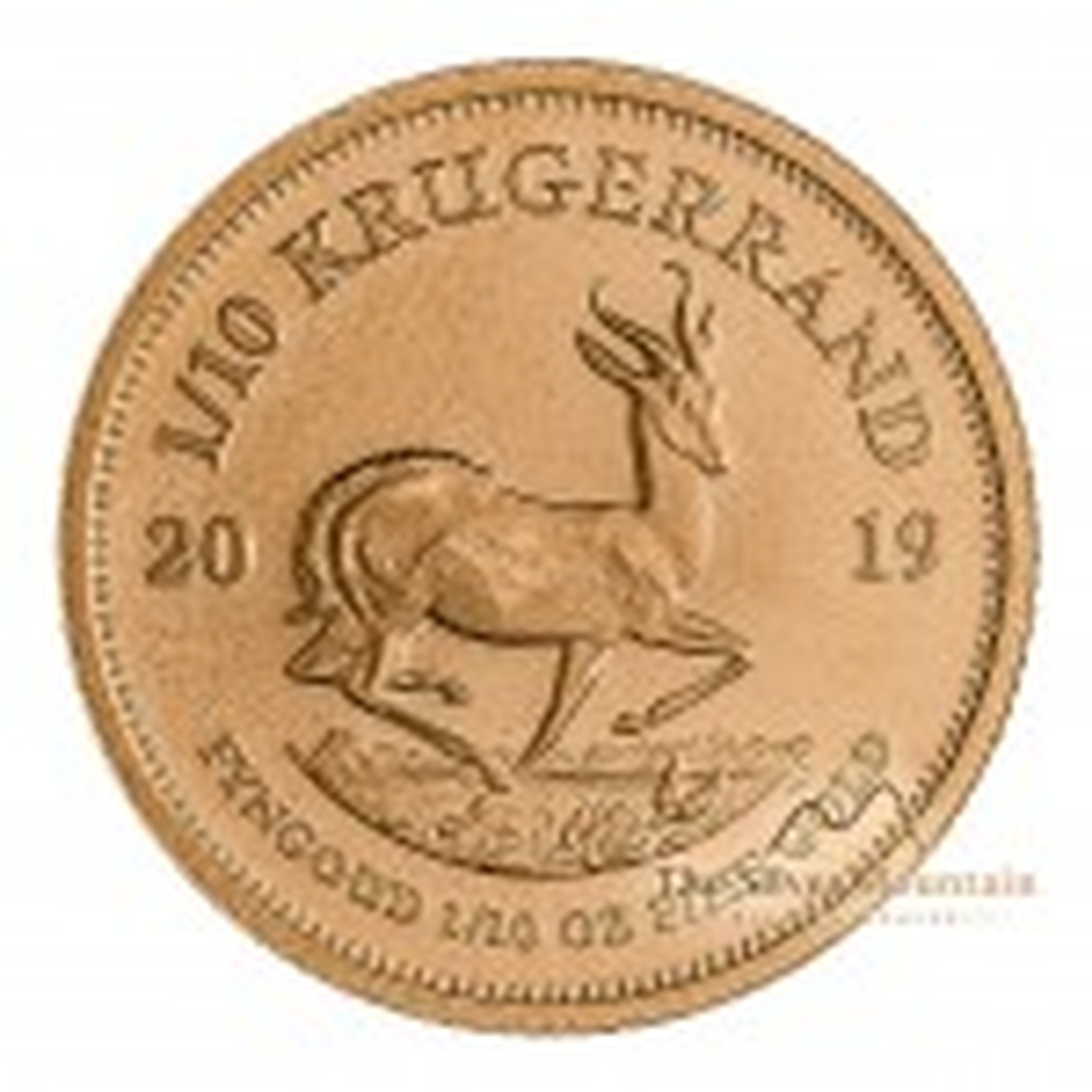 1/10 Troy ounce gouden Krugerrand munt 2020