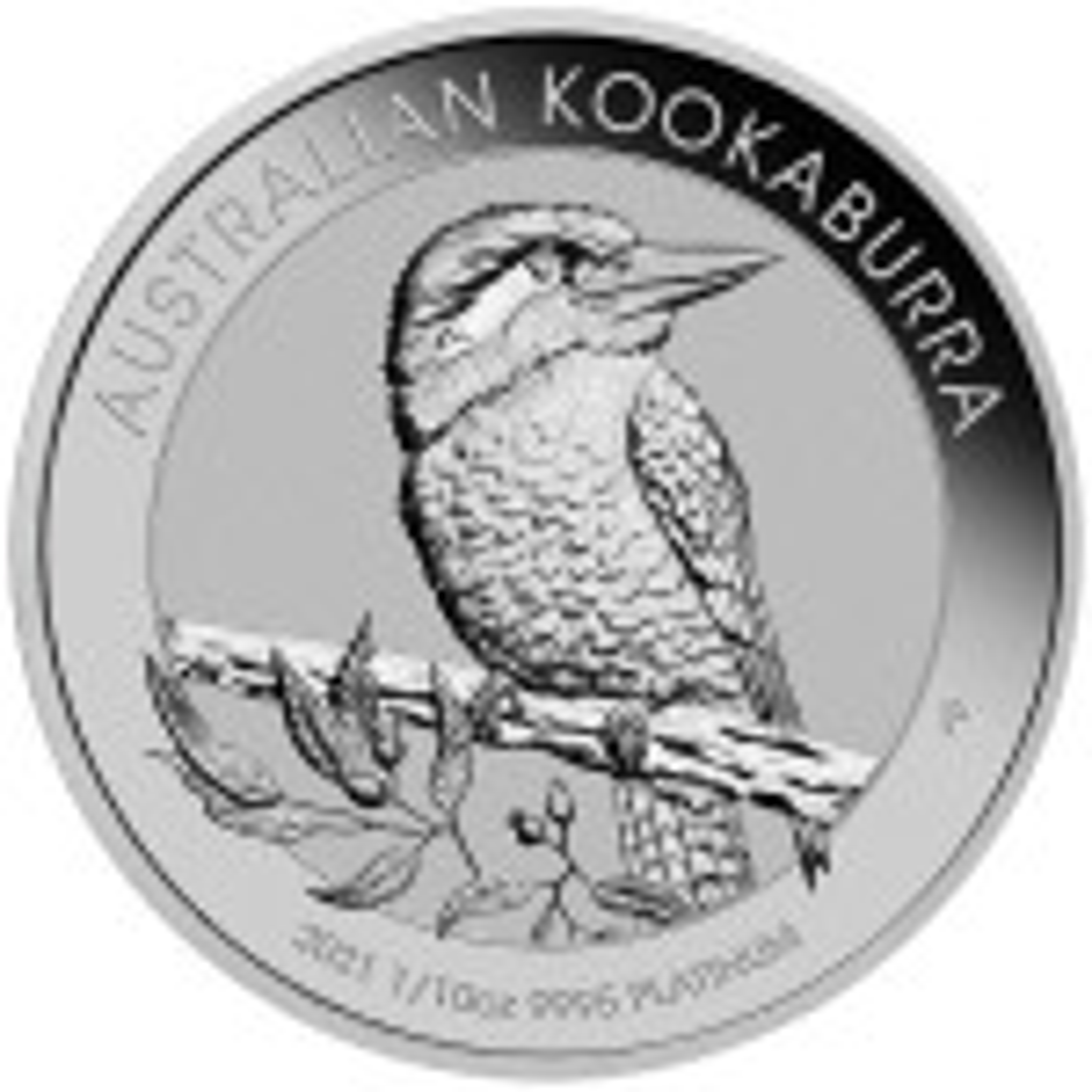 Kookaburra munt 2021 van 1/10 troy ounce platina