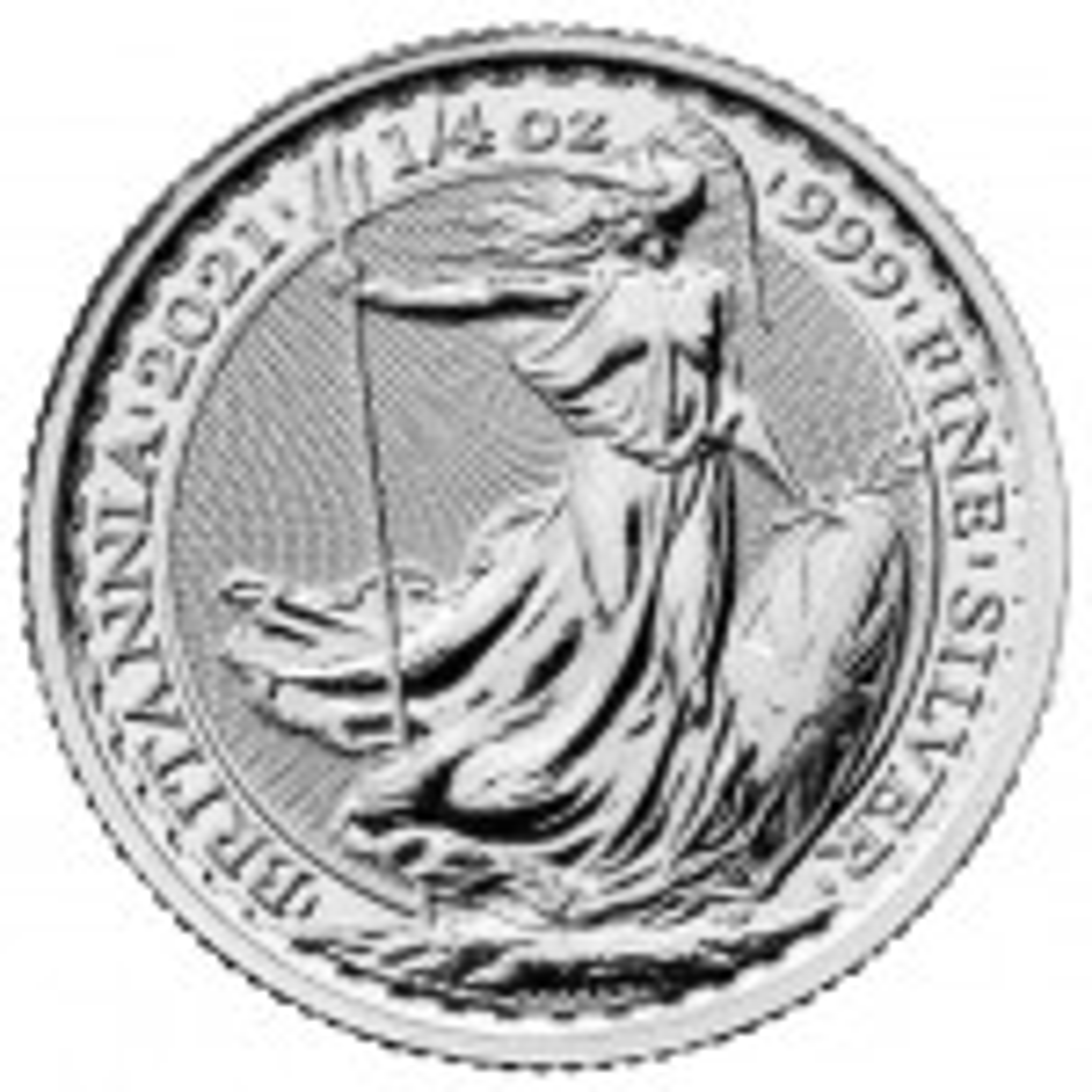 1/4 Troy ounce zilveren munt Britannia 2021