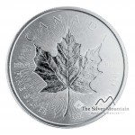 1 Troy ounce zilveren munt Maple Leaf 2018 ingeslagen blad
