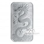 1 Troy ounce zilveren munt baar Rectangular Dragon 2018