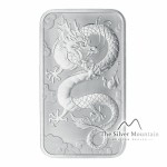 1 Troy ounce zilveren muntbaar Rectangular Dragon 2019