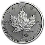 1 Troy ounce platina Maple Leaf munt 2021