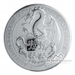 10 Troy ounce zilveren munt Queens Beasts Dragon