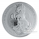 10 Troy ounce zilveren munt Queens Beasts Unicorn 2019