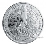 2 Troy ounce zilveren munt Queens Beasts Falcon of the Plantagenets 2019