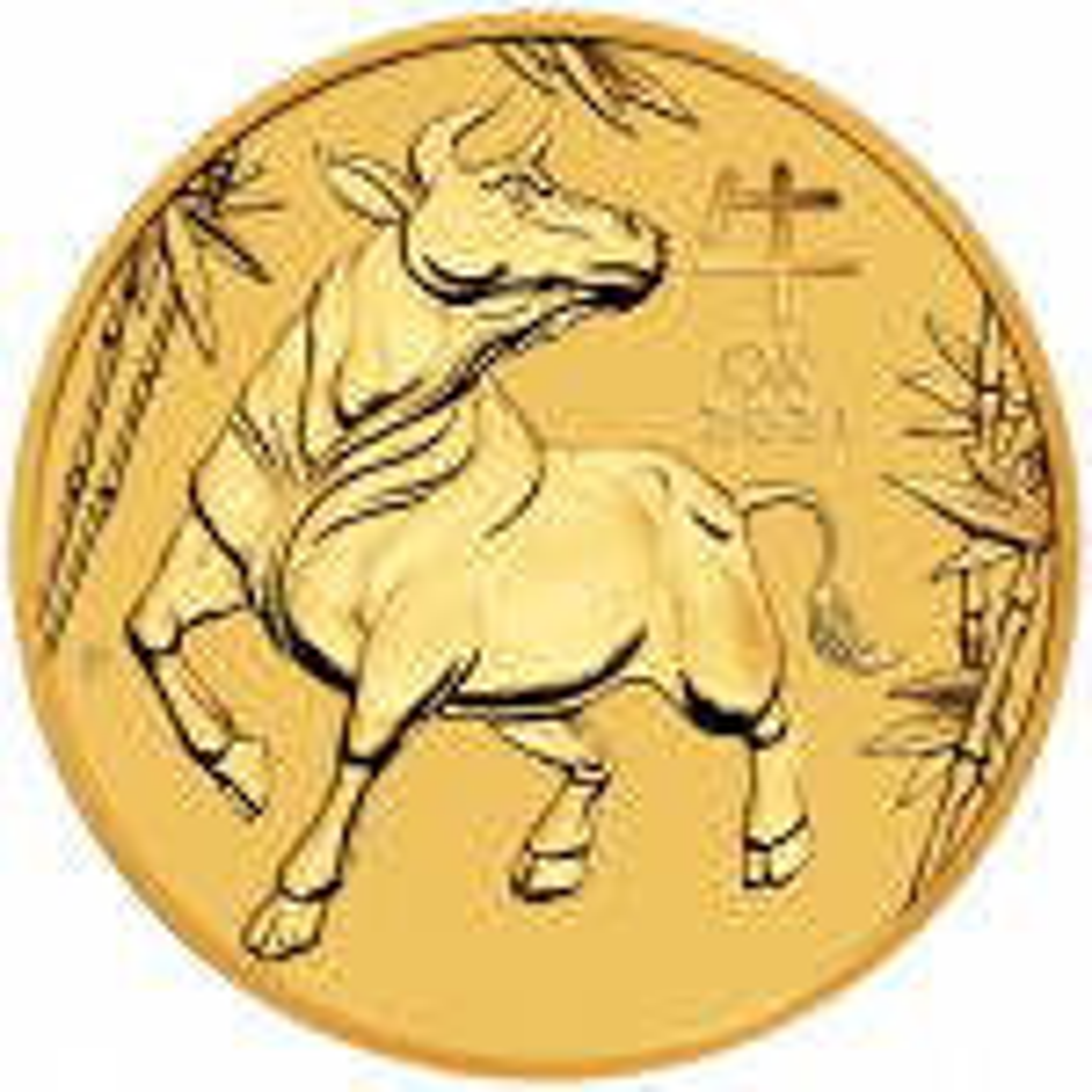 2 Troy ounce gouden munt Lunar 2021