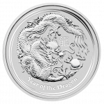 1 kilo Lunar zilver munt 2012 Year of the Dragon
