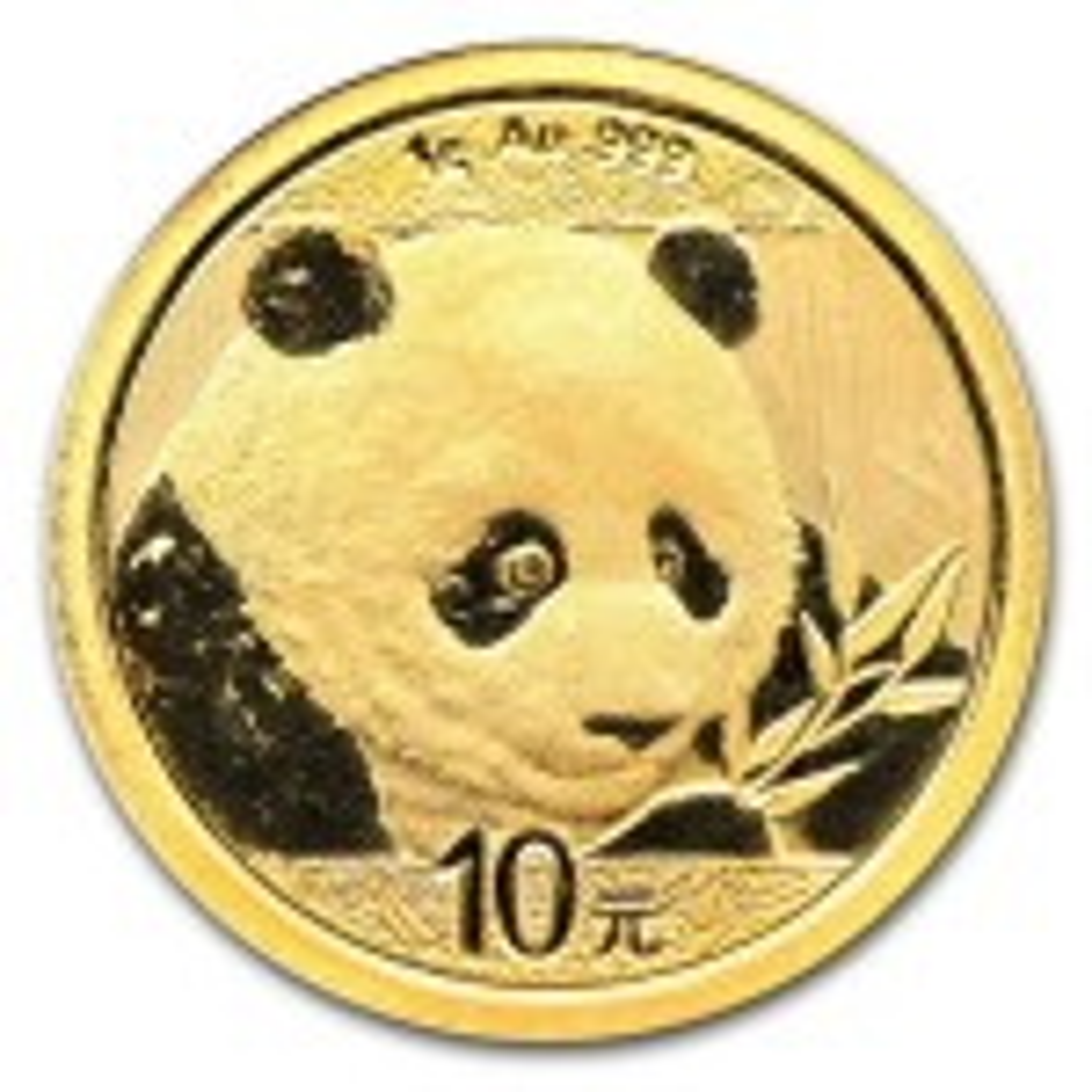 1 Gram gouden Panda munt 2018