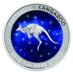 1 Troy ounce zilveren munt Glowing Galaxy Kangaroo 2019