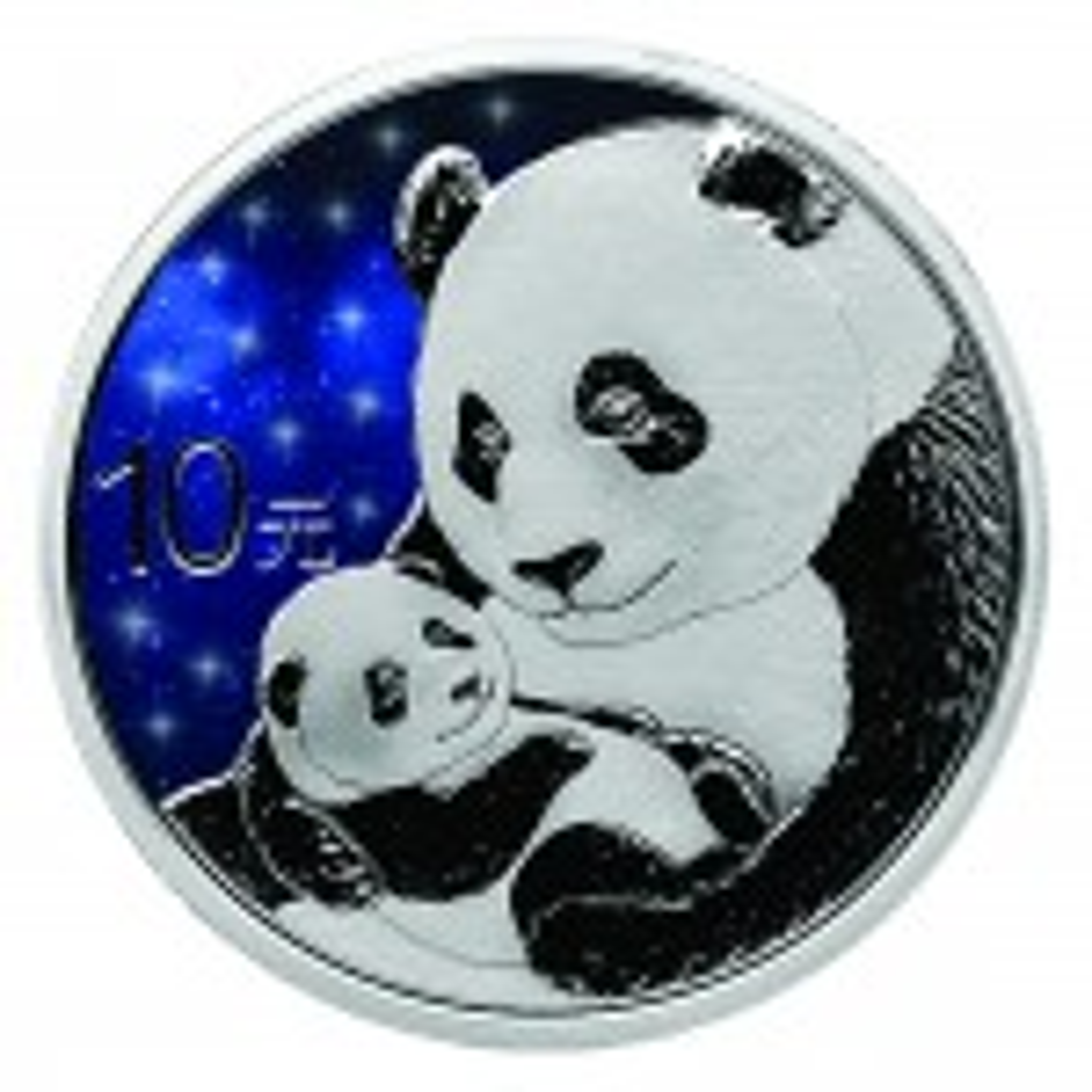 30 Gram zilveren munt Glowing Galaxy Panda 2019