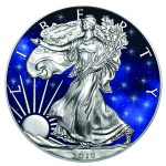 1 Troy ounce zilveren munt Glowing Galaxy American Eagle 2019