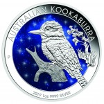 1 Troy ounce zilveren munt Glowing Galaxy Kookaburra 2019