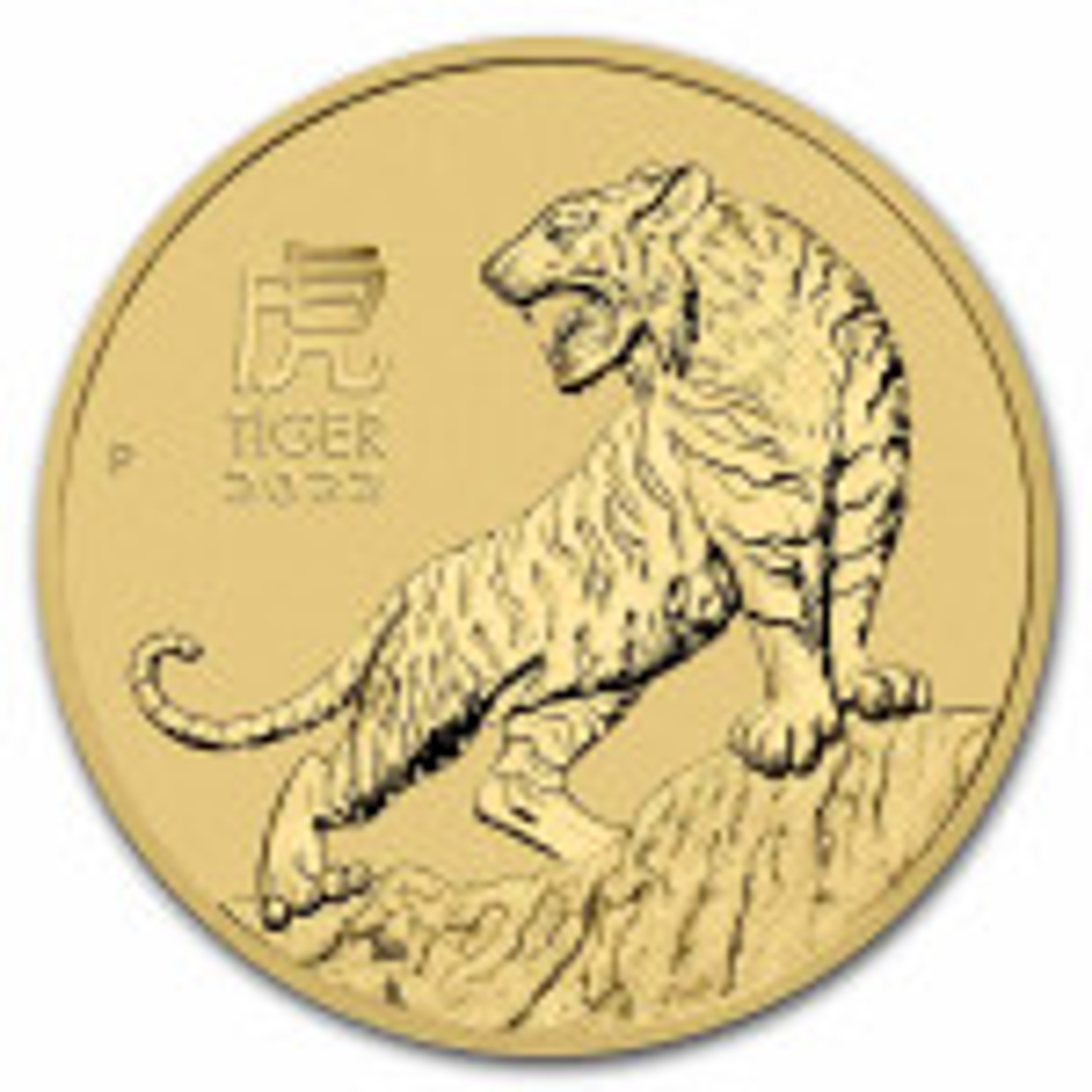 1/2 Troy ounce gouden munt Lunar 2022