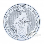 2 Troy ounce zilveren munt Queens Beasts White Greyhound