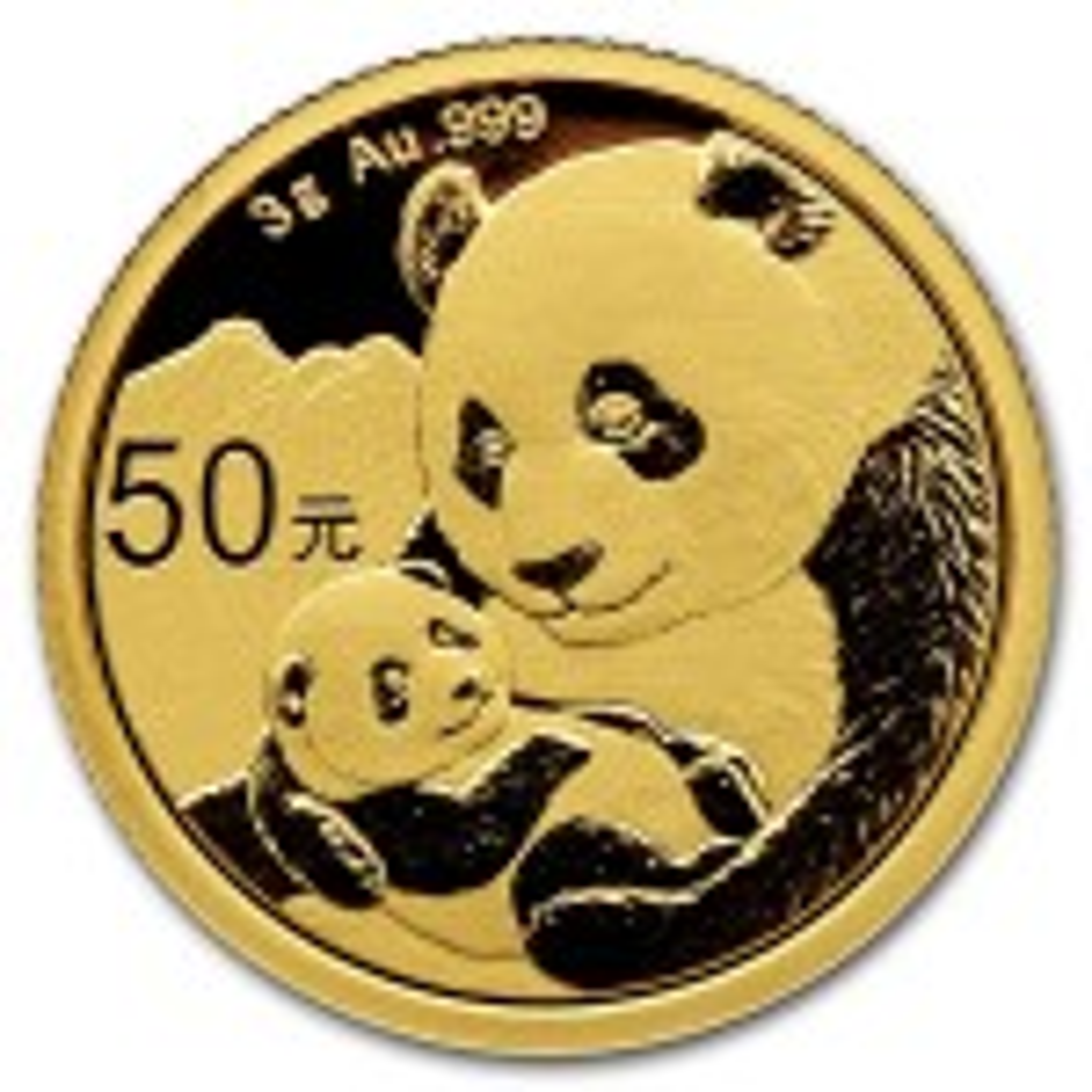 3 Gram gouden munt Panda 2019