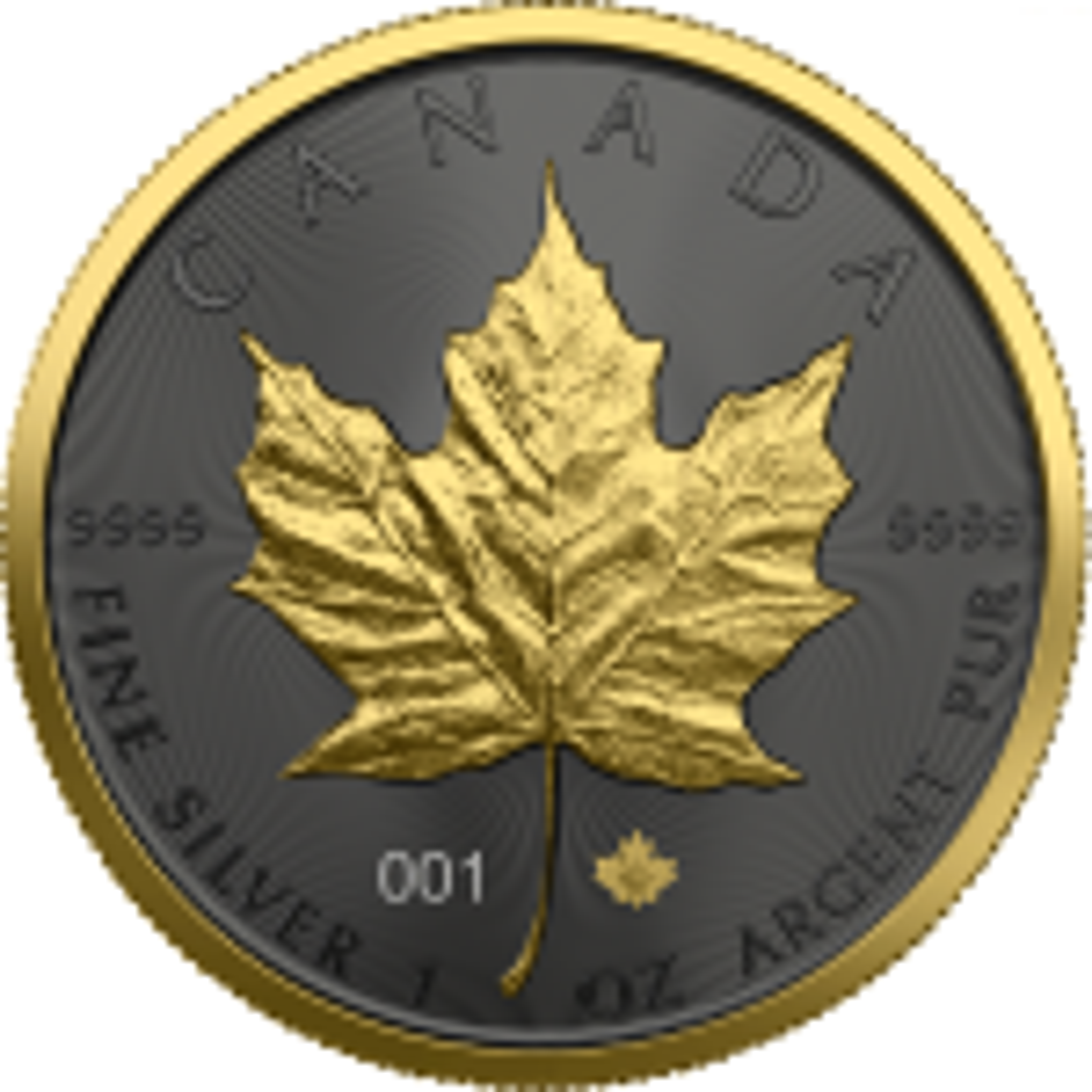 1 Troy ounce zilveren munt Golden Ring - Maple Leaf 2021