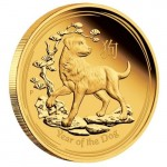 1/4 Troy ounce gouden munt Lunar 2018 Proof