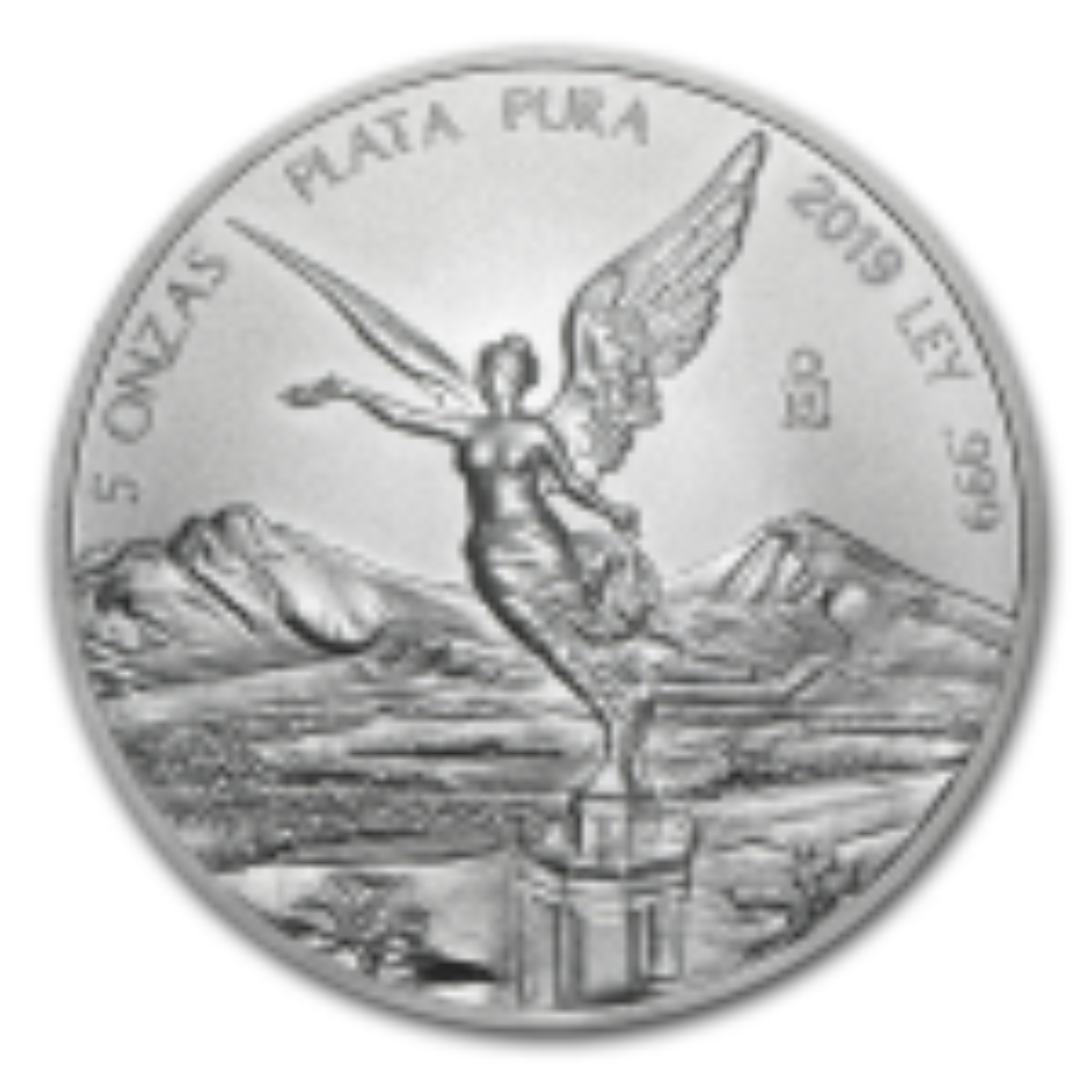 5 Troy ounce zilveren munt Mexican Libertad 2019