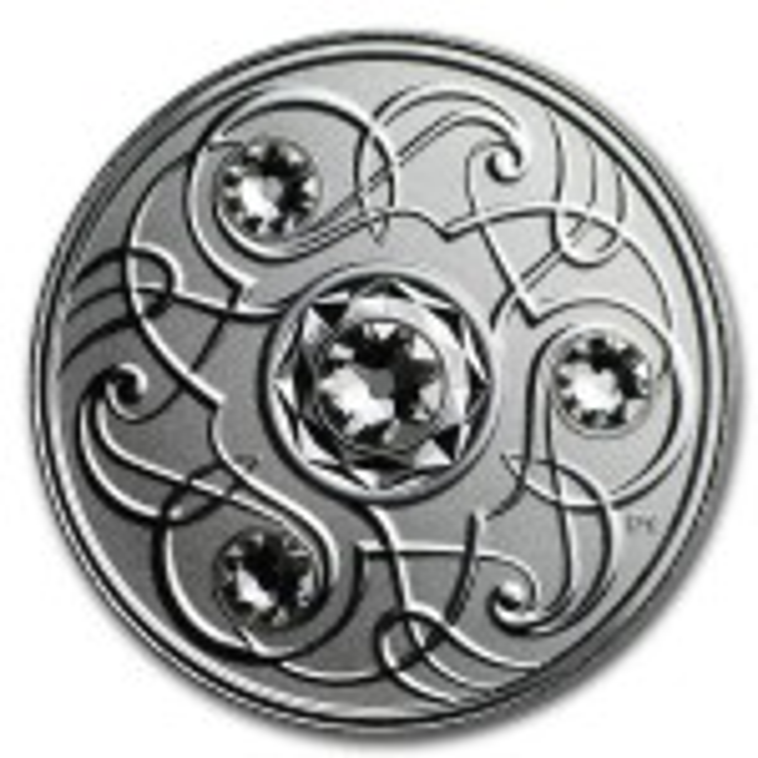 Zilveren munt April Birthstone Swarovski 2020