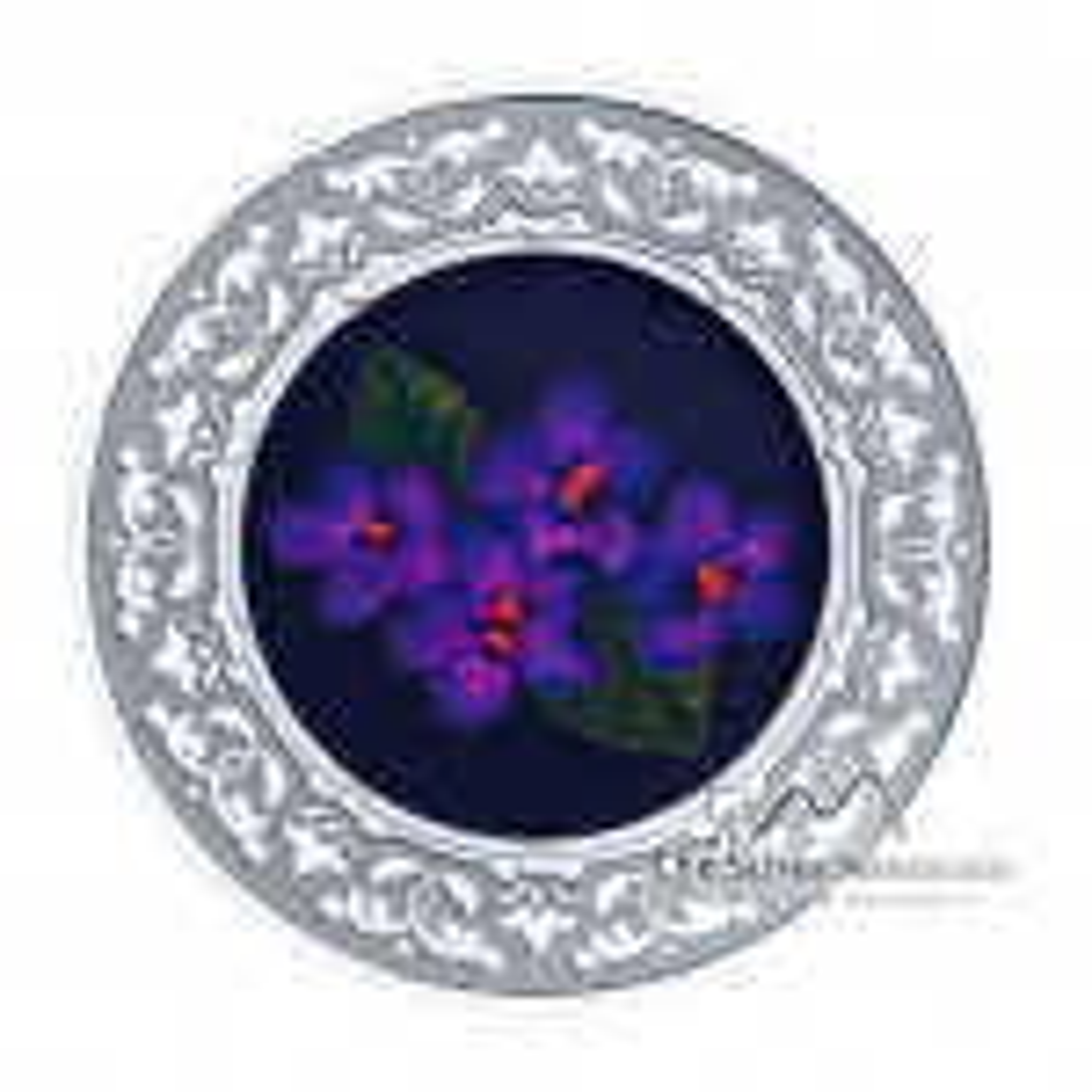 Zilveren munt Bloemenemblemen van Canada Purple Violet