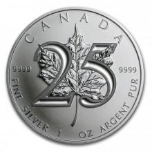 2013 Maple Leaf jubileum munt - 25 jaar
