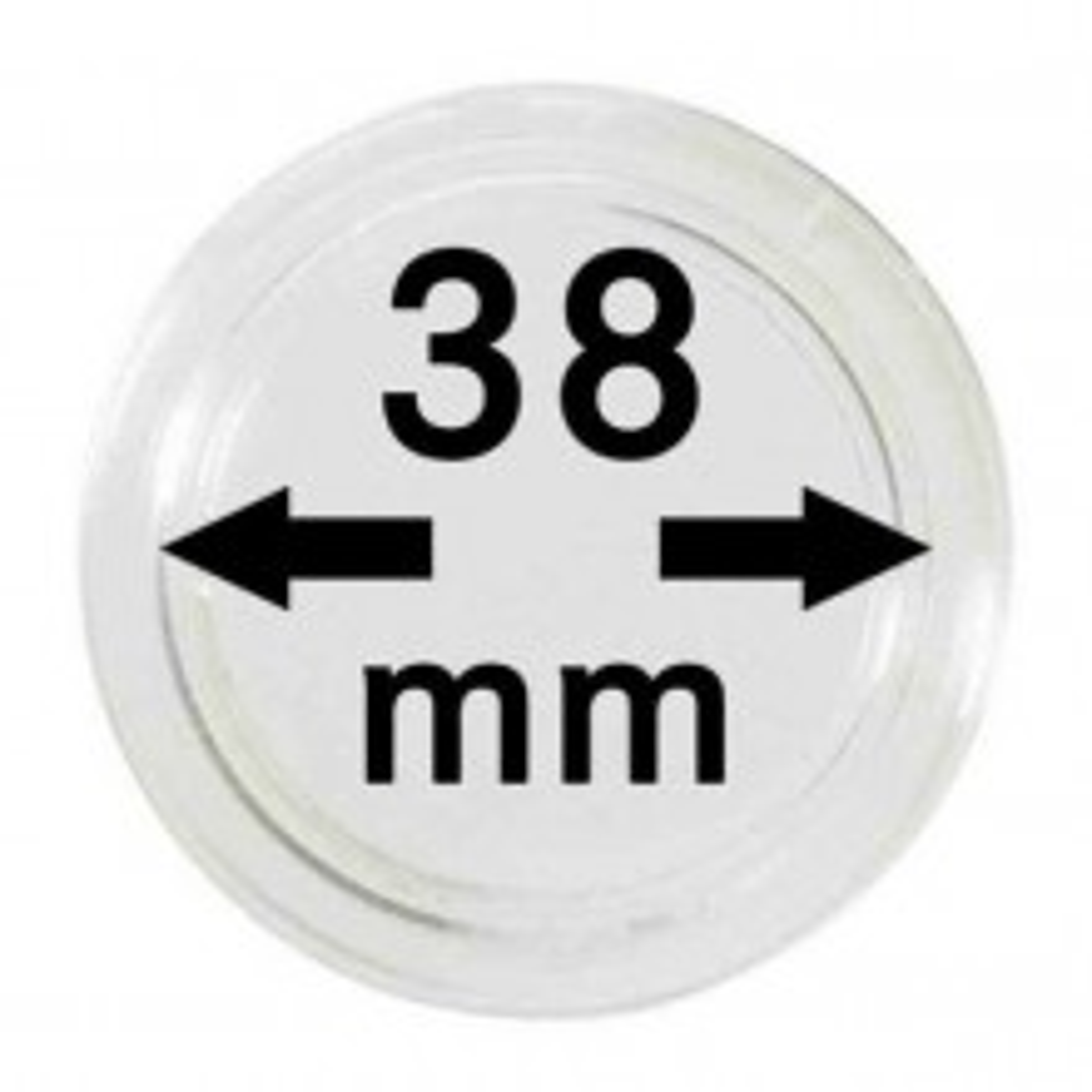 Doosje van 10x muntcapsules 38 mm