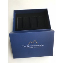 The Silver Mountain Box voor 4 goudbaren van 250 gram