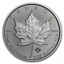 1 Troy ounce platina Maple Leaf munt 2020