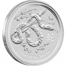 1 kilo zilveren Lunar munt 2013 Year of the Snake