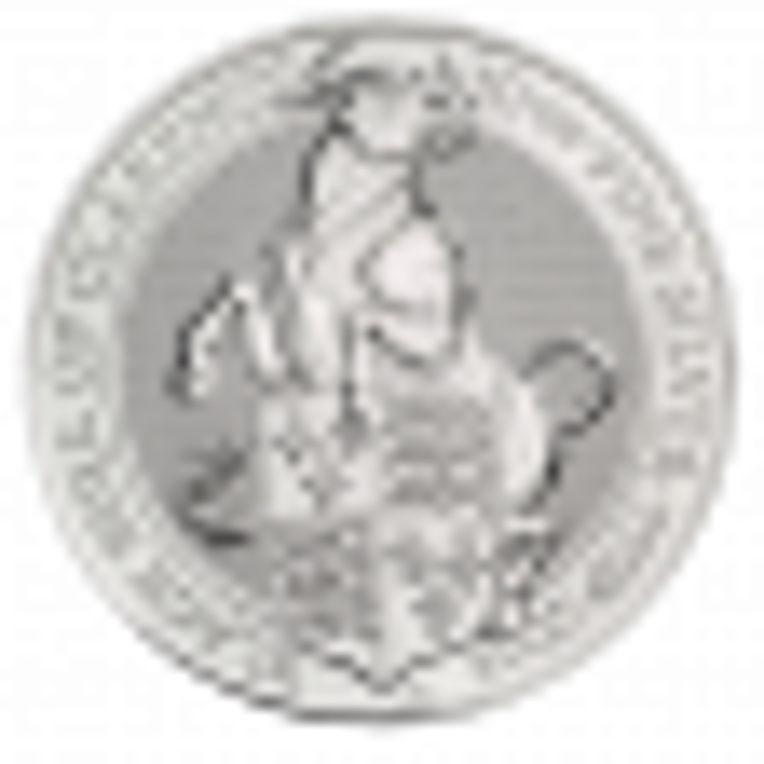 10 Troy ounce zilveren munt Queens Beasts Black Bull 2019