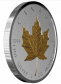 3 Troy ounce zilveren munt Maple Leaf 40th Anniversary 2019 Proof zijkant