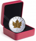 3 Troy ounce zilveren munt Maple Leaf 40th Anniversary 2019 Proof box